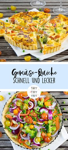 Bunte Gemüse-Quiche Colorful Vegetable Quiche / Colorful Vegetable Quiche – light and fast made, lunch and dinner – delicious to make yourself Food/healthy stuff 🙂 Easy Smoothie Recipes, Easy Smoothies, Snack Recipes, Vegetable Quiche, Easy Quiche, Healthy Snacks, Healthy Recipes, Colorful Vegetables, Quiches