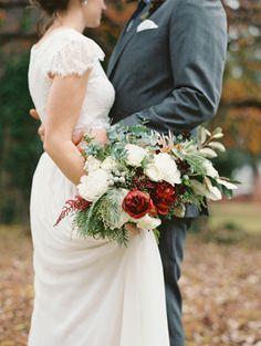 Rustic Outdoor Fall Wedding via @Once Wed