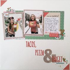 Layout using Fancy Pants Wish Season for Scrap the Challenge YouTube series.
