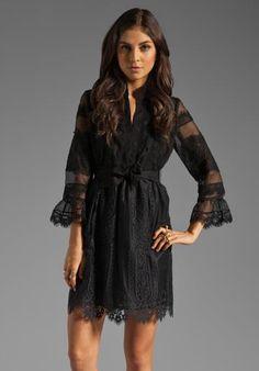alice + olivia by Stacey Bendet Victoria Short Sleeve Peplum Dress