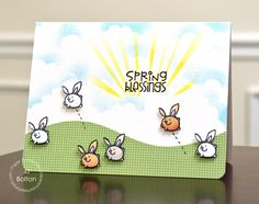 Spring Blessings card by JJ Bolton for Paper Smooches -  Squeaky Clean set, Border dies, Eco Friendly.