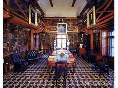 The Stone Library at the Old House, the historic home of the Adams family.