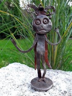 Kovaný čertík vo fraku / KatarinaKondacova - SAShE.sk - Handmade Socha Ale, Sculptures, Handmade, Hand Made, Ale Beer, Ales, Handarbeit, Sculpture, Beer
