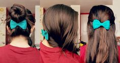 The first lime: 3 ways of styling a bow (LOVE the left and right)