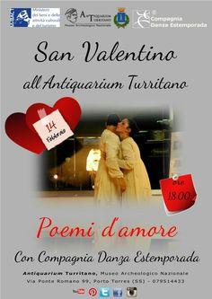 """14 febbraio 2015 ore 18.00 Spettacolo di danza """"Poemi d'amore"""" con Compagnia  Danza Estemporada."""