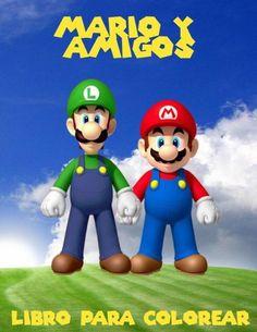 Mario y amigos livro para colorir: un gran libro para colorear para los niños de 40 páginas de diver