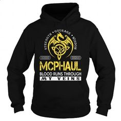 MCPHAUL Blood Runs Through My Veins (Dragon) - Last Name, Surname T-Shirt - #easy gift #hoodie dress