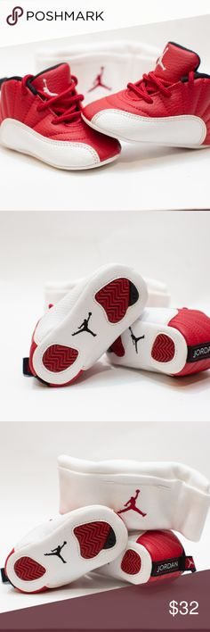 c4822e6ef341a4 Shop Kids  Jordan Red White size Sneakers at a discounted price at Poshmark.  Description  Jordan Retro 12 - Boys  Infant with cap.