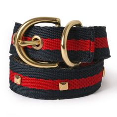 Red and Navy Studded Dog Collar so Hailey can be chic too.