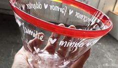 Blown glass bowl, with people's words and messages engraved on it. Personal gift. Bryllupsgave. Lærergave. Avskjedsgave. Glassblåsing.