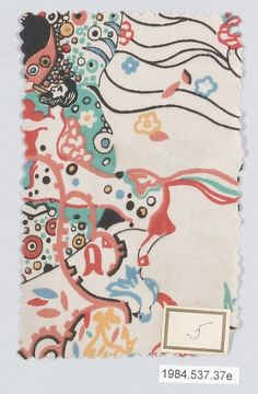 Since nothing interesting has happened at NYFW yet, have some really cool Klimt designed silk textiles printed in the 1920s.