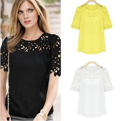 Cheap blouse red, Buy Quality blouse women directly from China shirt heat Suppliers:                                                                                       New Women Hollow Out Patchwo