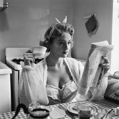 Women and Coffee Through the Years - Vintage Coffe Photos - Marie Claire