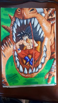 I uploaded a video on youtube watch it ! :) Is goku of ' Dragonball '  drawing goku - dragon ball