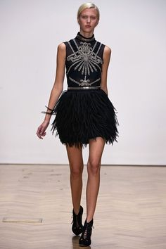 Feathers done flawlessly! Sass & Bide