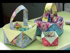 Fabric Easter Basket- DIY Tutorial - http://www.knittingstory.eu/fabric-easter-basket-diy-tutorial/