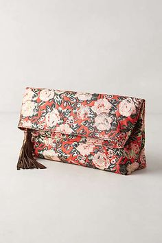 Rose Brocade Pouch