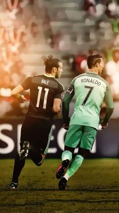 Cristiano Ronaldo and Gareth Bale playing for Portugal and Wales against each other in the semi-finals of UEFA Euro 2016