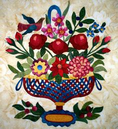 A Flowering Friendship  Applique Quilt Pattern by Somewhere in Time - Nadine Thompson, $15.00
