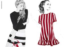 Marc Jacobs SS13 illustration by Sandra Suy