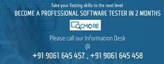 Utilize the best resources in software testing to improve your expertise in testing. QCMore-Software Training Institute is fully equipped with real time experts in testing, which will lift you to the next level. Register now @ www.qcmore.com