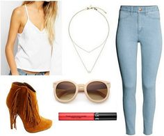 Fringe boots outfit