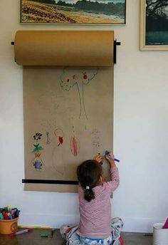 Que ideia maravilhosa! Rolo de papel pardo. Para crianças e adultos!