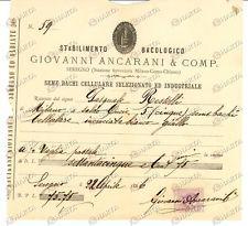 1886 SEREGNO (MB) Stabilimento bacologico ANCARANI
