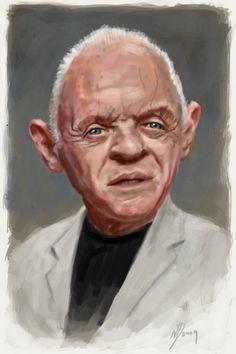 [ Anthony Hopkins ] - artist: Neil Davies - website: http://singleservingjack.blogspot.com/