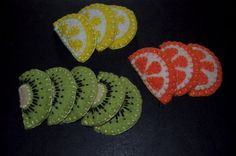 fruit felt hair clips