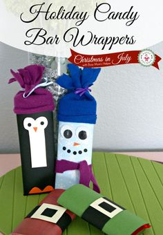 Holiday Candy Bar Wrappers - a great homemade gift idea!