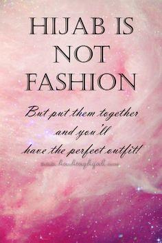 Hijab is not fashion | © www.hashtaghijab.com