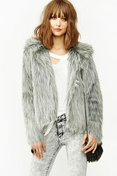Unif Glam Faux Fur Coat