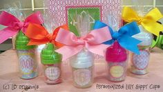 Personalized Lilly Sippy Cups by preppypapergirl on Etsy, $12.50  And SO many more wonderful gifts; Laurie is amazingly gifted!