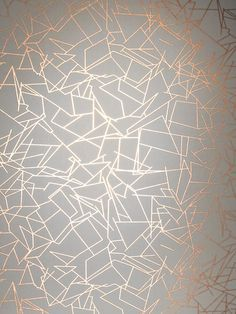 Angles Wallpaper - Copper Rose White | Monument Interiors - http://centophobe.com/angles-wallpaper-copper-rose-white-monument-interiors/ -