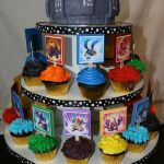 This Skylanders cupcake tower was made for my son who turned 4.  This was a huge hit with all the kids.