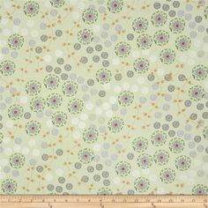 Temple Lotus Moonstone from @fabricdotcom  Designed by Dan Bennett for Rowan, this cotton print is perfect for quilting, apparel and home décor accents.  Colors include green, off white, lime, navy, pink and tan.