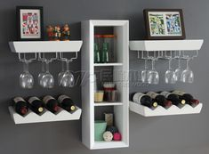 Liquor Cabinet Wine Rack | Wine rack liquor cabinet wine storage wine bottle holder wine glass ... (put baskets in middle shelves for coffee creamers etc...beverage station )