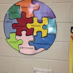 Learner Profile puzzle sign