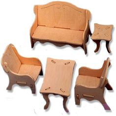 3-D Wooden Puzzle - Dollhouse Livingroom Furniture Set -Affordable Gift for your Little One! Item #DCHI-WPZ-P008... - Listing price: $14.97 Now: $5.99