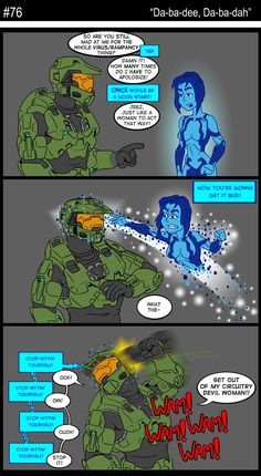 76 - Da-ba-dee, Da-ba-dah Video Games Xbox, Video Games Funny, Xbox Games, Funny Games, Video Game Art, Halo Game, Halo 3, Master Chief And Cortana, Halo Funny