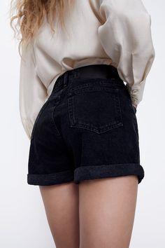 MOM FIT BERMUDA SHORTS | ZARA Bulgaria Zara Shorts, Denim Shorts, High Waisted Shorts, Organic Cotton, Short Dresses, Mini Skirts, Plus Size, Zip, Fitness
