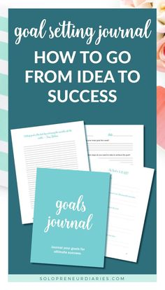 Use this Goals Journal to help you plan your business goals for the year and grow your business. You'll find journal prompts and journaling ideas to help you stay motivated. | Business Goals | Business Journal #smallbusiness #productivity