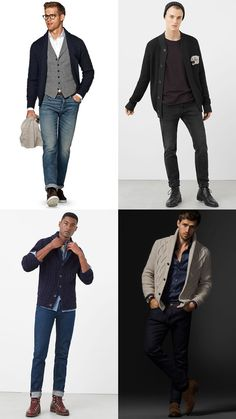 Men's cardigan outfit inspiration lookbook