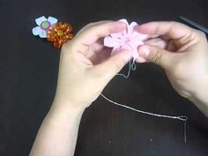 Manualidades y accesorios la hormiga. como hacer una flor en cinta. video No.043 - YouTube