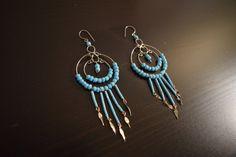 Cute and Playful Peruvian Earrings - Peruvian Earrings, Long Earrings, Chandelier Earrings, Peruvian Jewelry