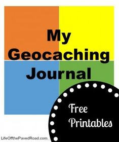 Free Printables to make a #geocaching journal for kids