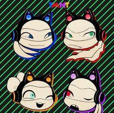 Cats heardphones - by c-electro on tumblr