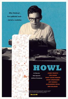 """""""Howl"""" by Allen Ginsberg James Franco, Book Cover Design, Book Design, Edelweiss, Allen Ginsberg, Art Beat, Best Book Covers, Film Inspiration, Cool Books"""