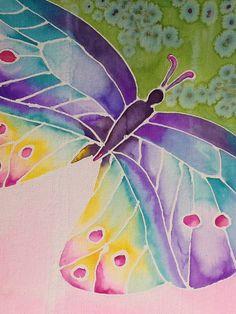 Shadowpainting vlinder